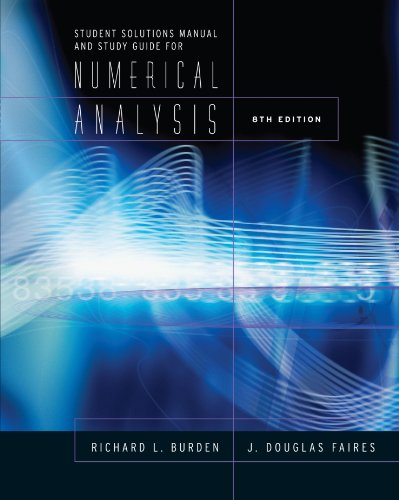 Sg Numerical Analysis 8th 2005 9780534392024 Front Cover