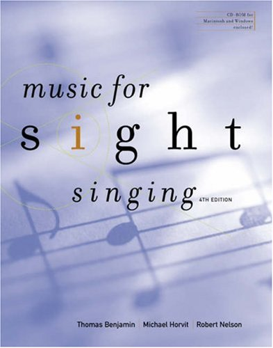 Music for Sight Singing  4th 2005 (Revised) 9780534628024 Front Cover