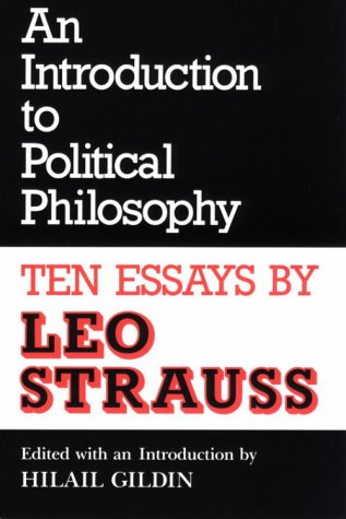 Introduction to Political Philosophy Ten Essays by Leo Strauss  1989 (Revised) edition cover