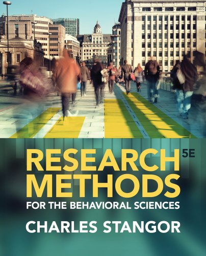Research Methods for the Behavioral Sciences:   2014 edition cover