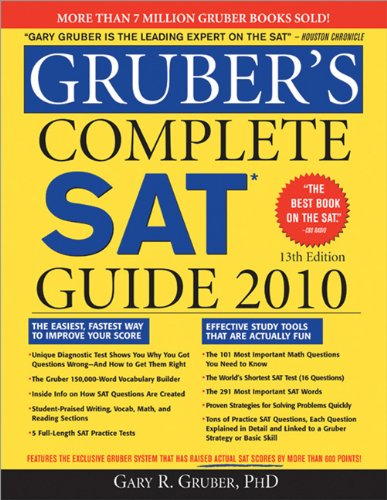 Gruber's Complete SAT Guide 2010  13th 2009 9781402225024 Front Cover