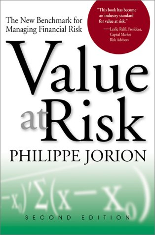 Value at Risk The New Benchmark for Managing Financial Risk 2nd 2001 (Revised) 9780071355025 Front Cover