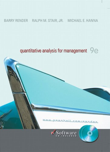 Quantitative Analysis for Management  9th 2006 (Revised) edition cover
