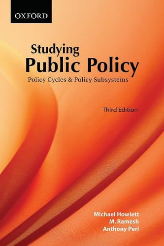 Studying Public Policy Policy Cycles and Policy Subsystems 3rd 2009 edition cover