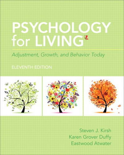 Psychology for Living Adjustment, Growth, and Behavior Today 11th 2014 edition cover