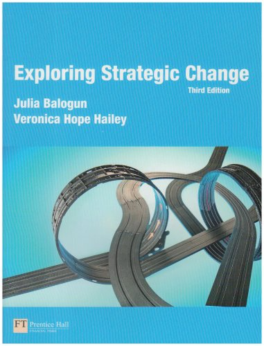 Exploring Strategic Change  3rd 2008 edition cover