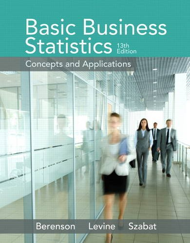 Basic Business Statistics  13th 2015 9780321870025 Front Cover