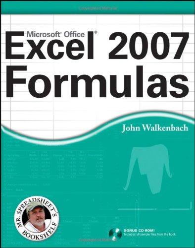 Excel 2007 Formulas   2007 edition cover