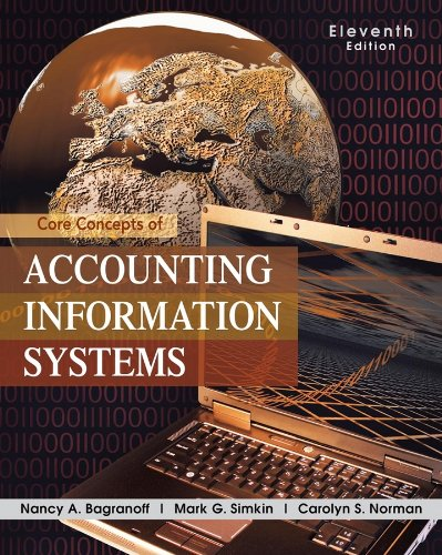 Core Concepts of Accounting Information Systems  11th 2010 9780470507025 Front Cover