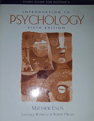 Introduction to Psychology 6th 2002 (Student Manual, Study Guide, etc.) 9780534580025 Front Cover