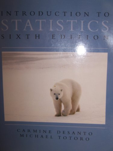INTRO.TO STATISTICS >CUSTOM< 6th 2004 9780536739025 Front Cover