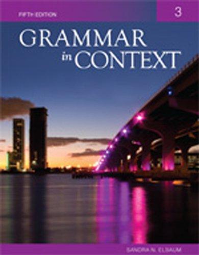 Grammar in Context Book 3  5th 2011 edition cover