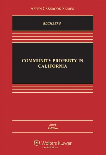 Community Property in California  6th 2012 (Revised) edition cover