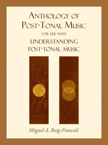 Anthology of Post-Tonal Music For Use with Understanding Post-Tonal Music  2008 edition cover