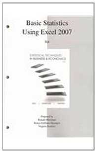 Basic Statistics Using Excel to Accompany Statistical Techniques in Business and Economics  15th 2012 edition cover
