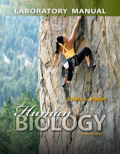 Lab Manual for Human Biology  13th 2014 edition cover