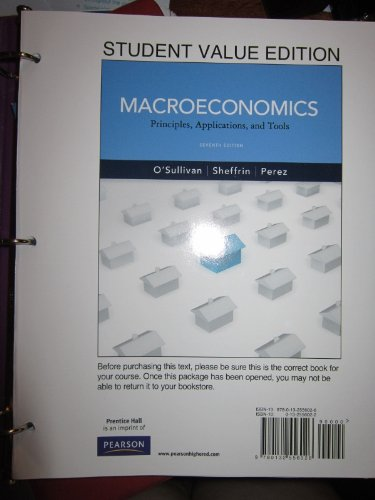 Macroeconomics Principles, Applications and Tools, Student Value Edition 7th 2012 edition cover