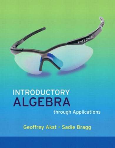 Introductory Algebra Through Applications  2nd 2009 edition cover