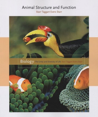 Volume 5 - Animal Structure and Function  12th 2009 9780495558026 Front Cover
