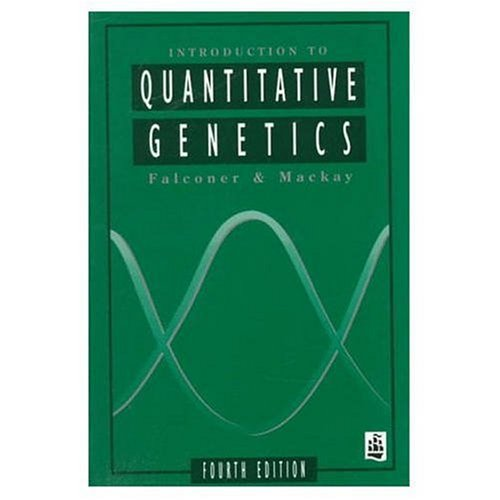 Introduction to Quantitative Genetics  4th 1996 (Revised) edition cover