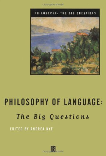 Philosophy of Language The Big Questions  1998 edition cover