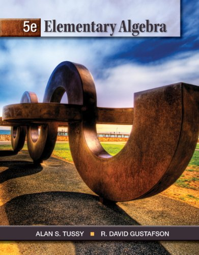Student Solutions Manual for Tussy/Gustafson's Elementary Algebra, 5th  5th 2013 edition cover