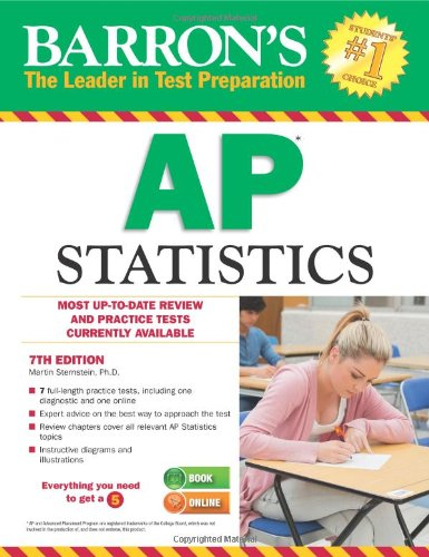 Barron's AP Statistics, 7th Edition  7th 2013 (Revised) edition cover