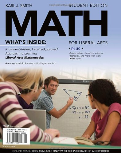 Math for Liberal Arts   2011 (Student Manual, Study Guide, etc.) edition cover