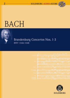 BRANDENBURGISCHE KONZERTE NR. 1 F-DUR/NR. 2 F-DUR/NR. 3 G-DUR. ORCHESTER. STUDIENPARTITUR + CD N/A edition cover