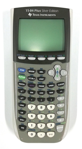 Texas Instruments TI-84 Plus Silver Edition Graphing Calculator product image