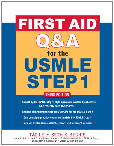 First Aid Q and a for the USMLE, Step 1  3rd 2012 edition cover
