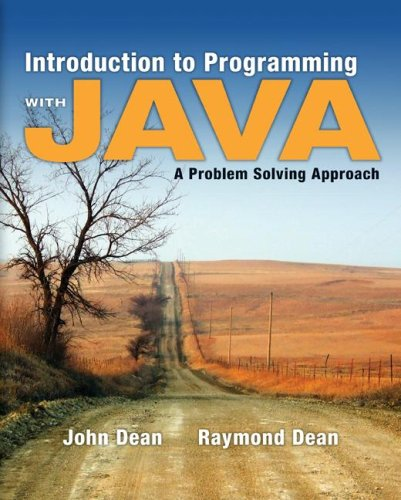 Introduction to Programming with Java A Problem Solving Approach  2008 edition cover