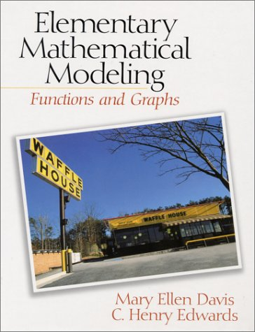 Elementary Mathematical Modeling Functions and Graphs  2001 edition cover