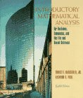 Introductory Mathematical Analysis Business  8th 1996 9780132070027 Front Cover