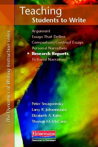 Teaching Students to Write Research Reports   2012 edition cover