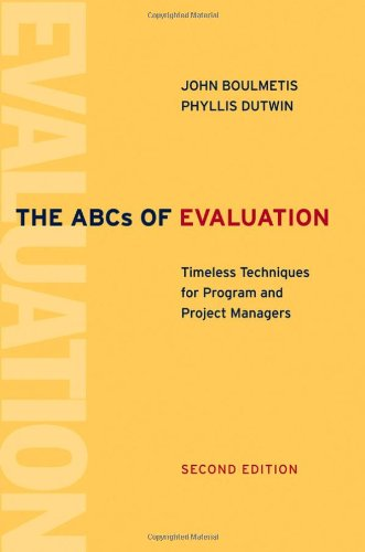ABCs of Evaluation Timeless Techniques for Program and Project Managers 2nd 2005 (Revised) edition cover