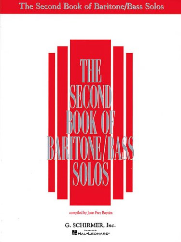 Second Book of Baritone Bass Solos N/A edition cover