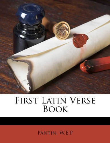 First Latin Verse Book N/A 9781246440027 Front Cover