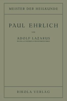 Paul Ehrlich:   1922 9783709152027 Front Cover
