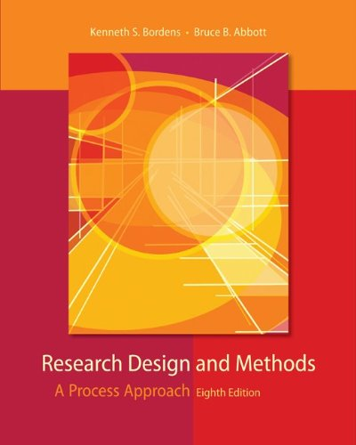 Research Design and Methods A Process Approach 8th 2011 edition cover