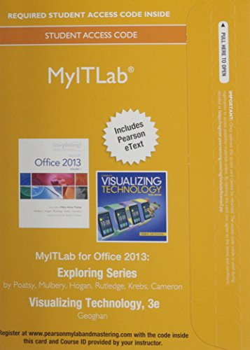 MyITLab with Pearson EText -- Access Card -- for Exploring with Visualizing Technology  3rd 2015 edition cover