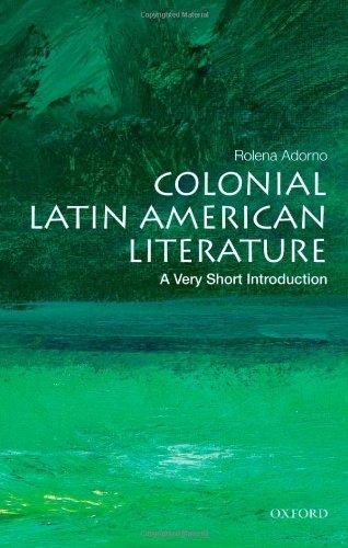 Colonial Latin American Literature   2011 edition cover