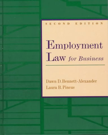 Employment Law for Business  2nd 1998 9780256229028 Front Cover