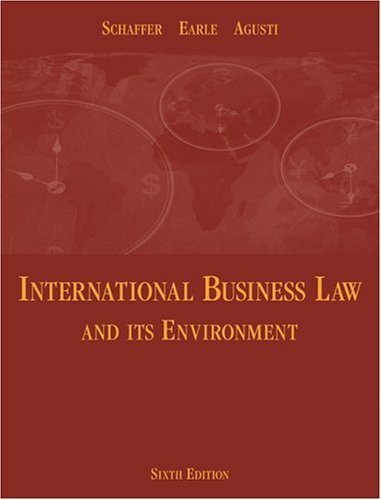 International Business Law and Its Environment  6th 2005 edition cover