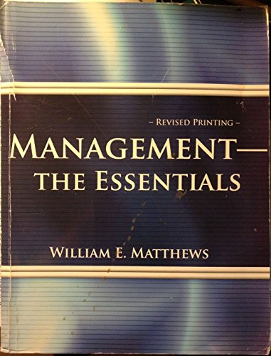 Management - The Essentials  Revised  9780757524028 Front Cover