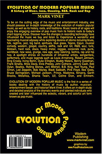Evolution of Modern Popular Music : A History of Blues, Jazz, Country, R&B, Rock and Rap  2004 edition cover