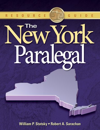 New York Paralegal   2011 edition cover