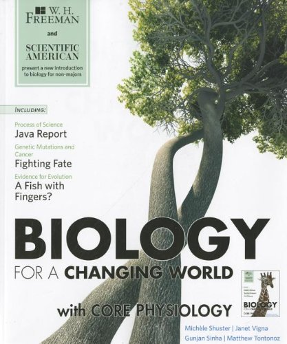 Scientific American Biology for a Changing World  N/A edition cover