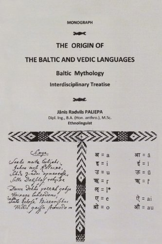 Origin of the Baltic and Vedic Languages Baltic Mythology  2010 edition cover