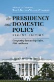 Presidency and Domestic Policy Comparing Leadership Styles, FDR to Obama  2014 edition cover